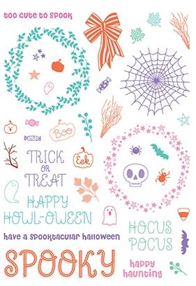 Trick or Treat 6x8 Pirouette Stamps