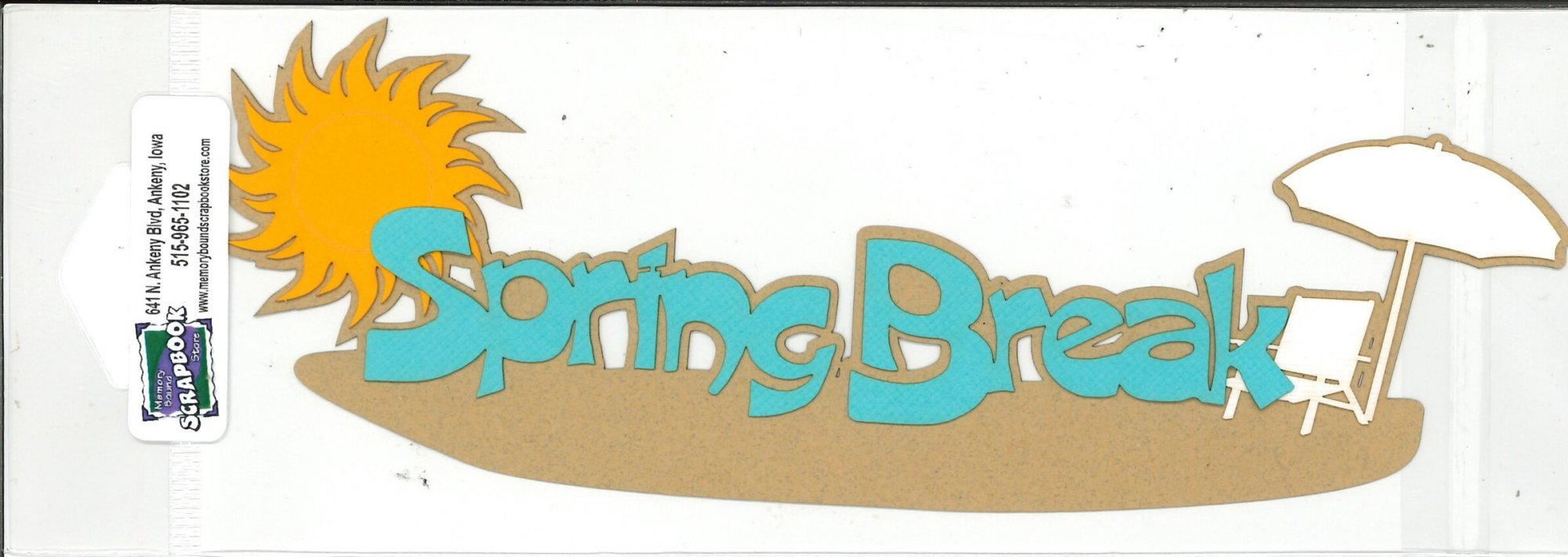 DIECUT - SPRING BREAK W/UMBRELLA