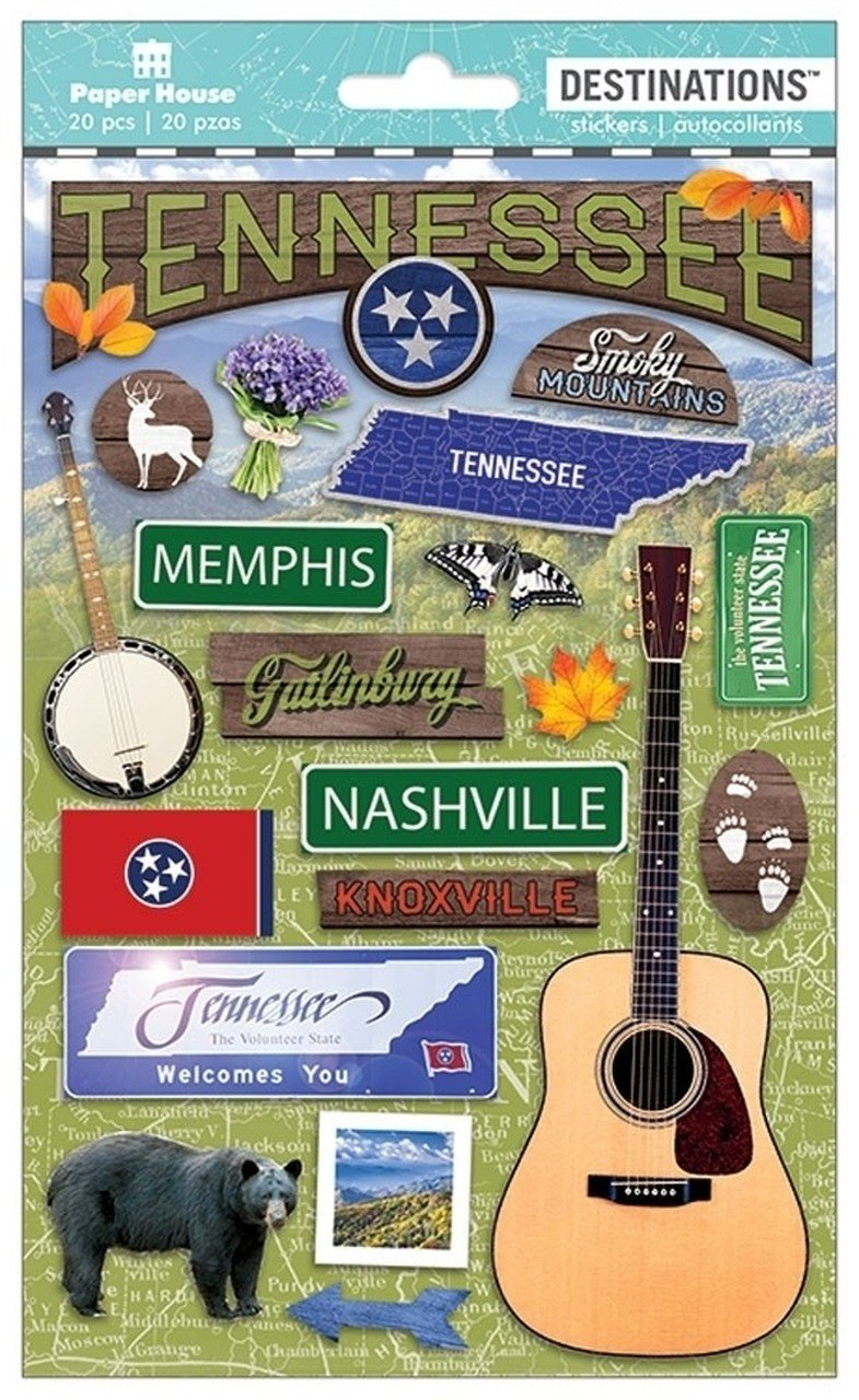 TENNESSEE 3 D Stickers