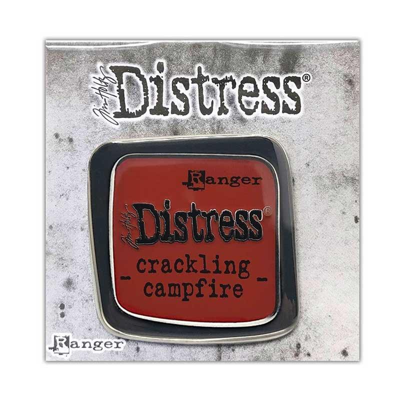 Tim Holtz Distress Enamel Collector Pin- CRACKLING CAMPFIRE