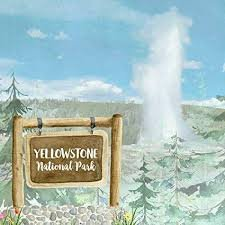 PPR -  NATIONAL PARK WATERCOLOR YELLOWSTONE