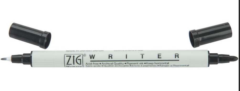 ZIG WRITER DUAL-TIP MARKER BLACK