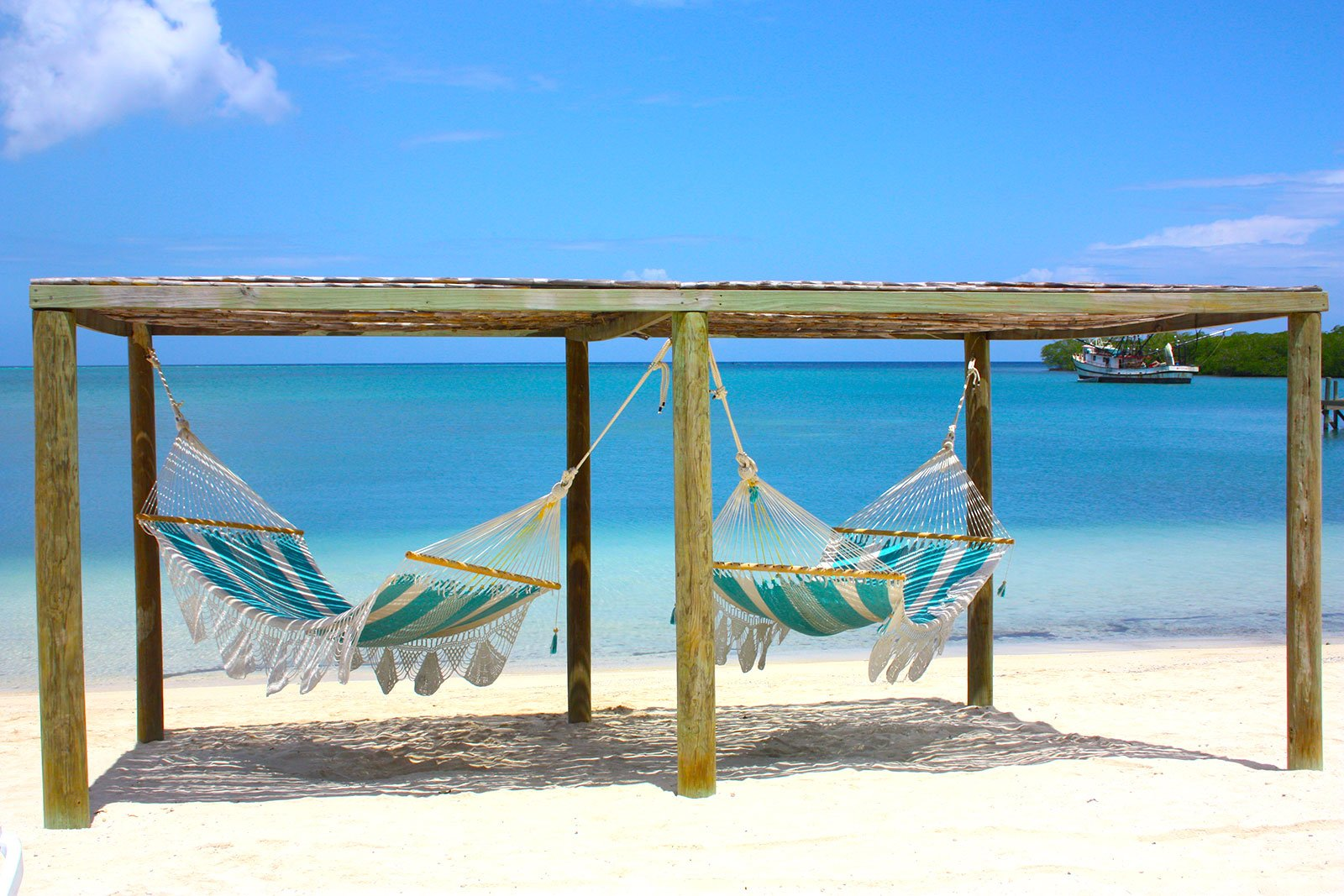 Image of Beach Hammocks in Roatan