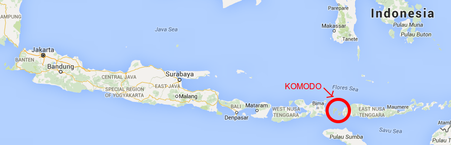 image of Komodo Indonesia Map