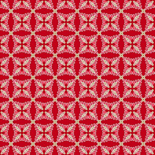 Heart and Home Feathers GEO red