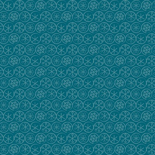 Heart & Home Flake Dot Dark Blue