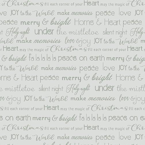Merry & Bright Words lt grey