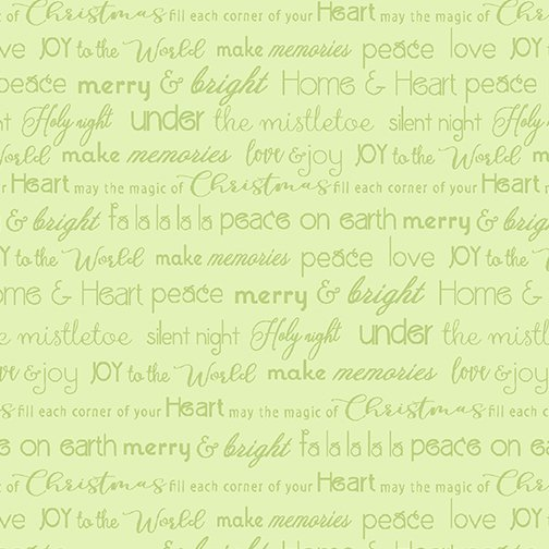 Merry & Bright Words lt green