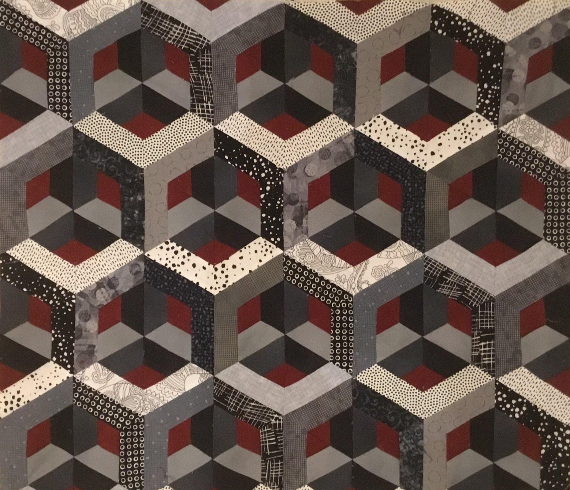 Escher II Black & White King 106x105