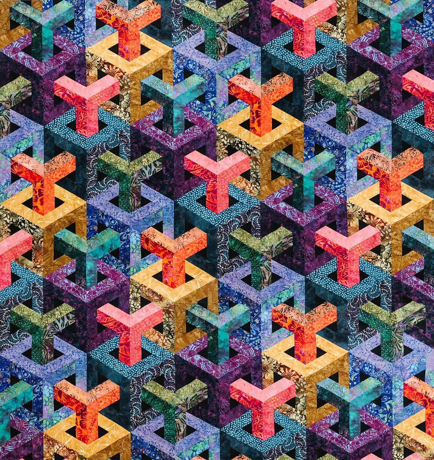 Escher Cubed - Batik