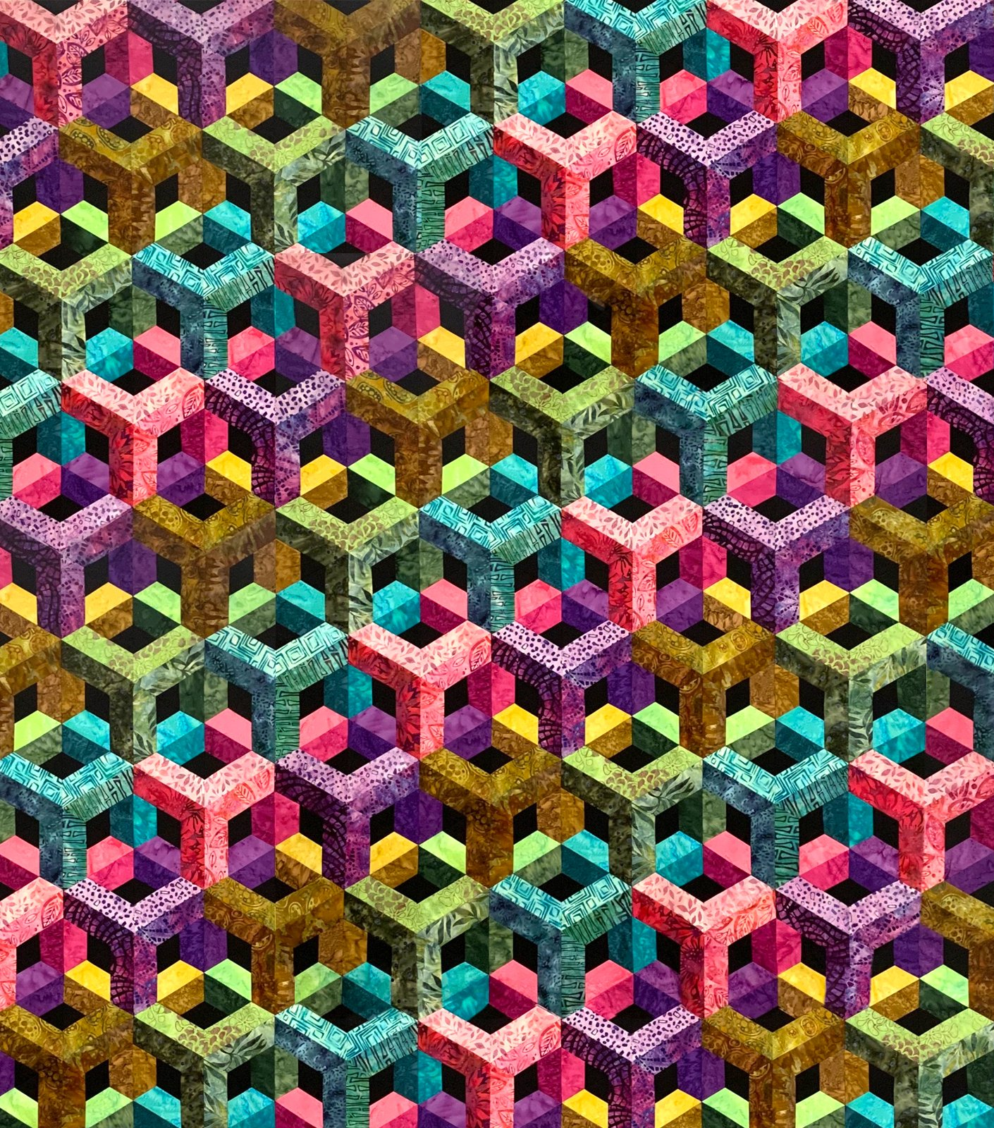 Escher In Shadows - Batik