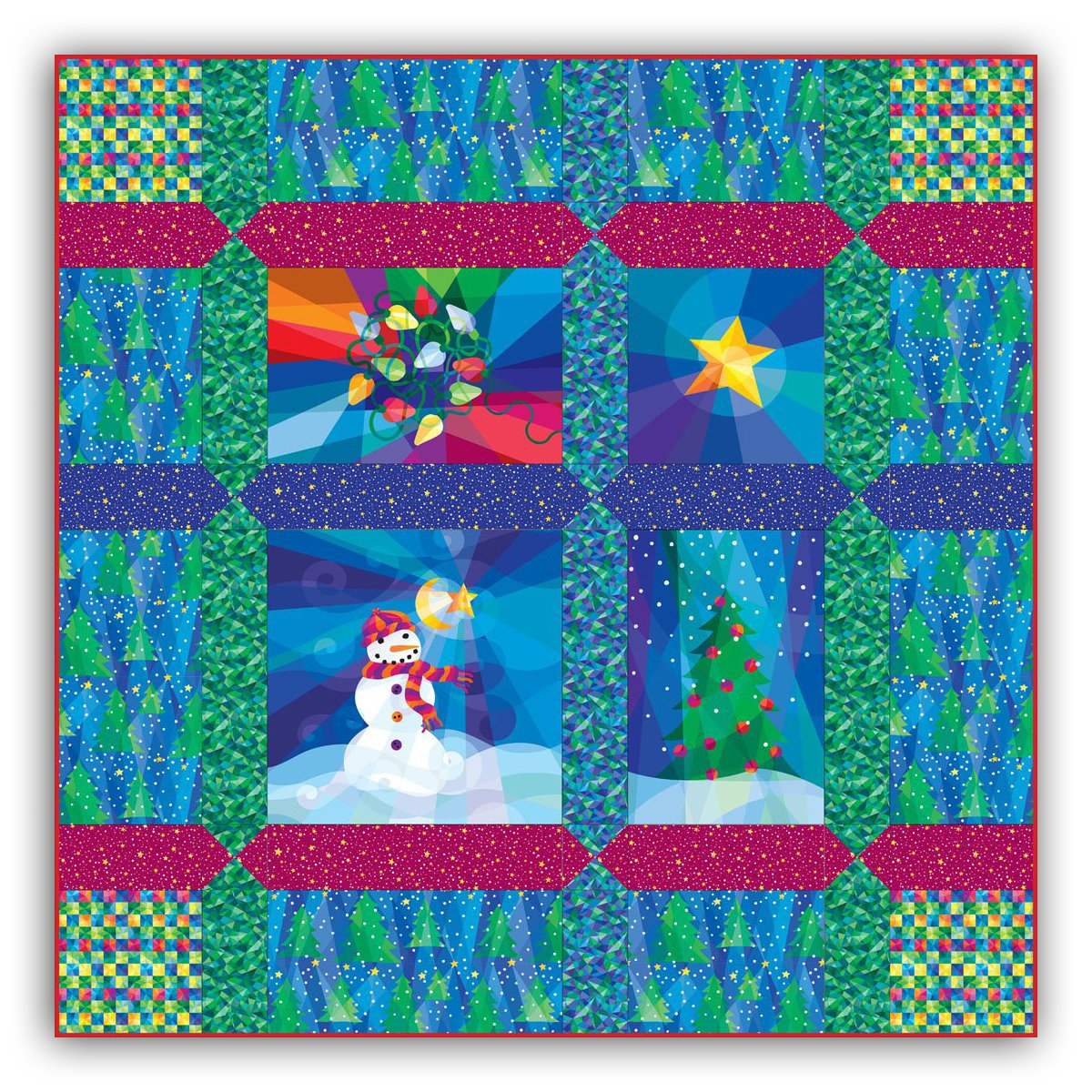 Holiday Lights Quilt Kit 60x60