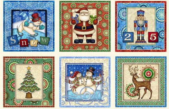 Santa Coming to Town - SOLD PER PANEL