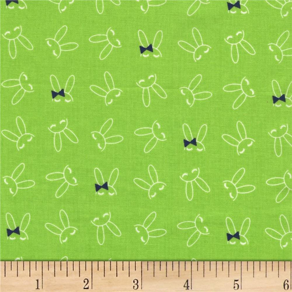 Bowtie Bunny - Grass
