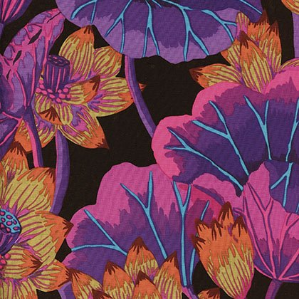 Kaffe Fassett - Lake Blossoms - Black