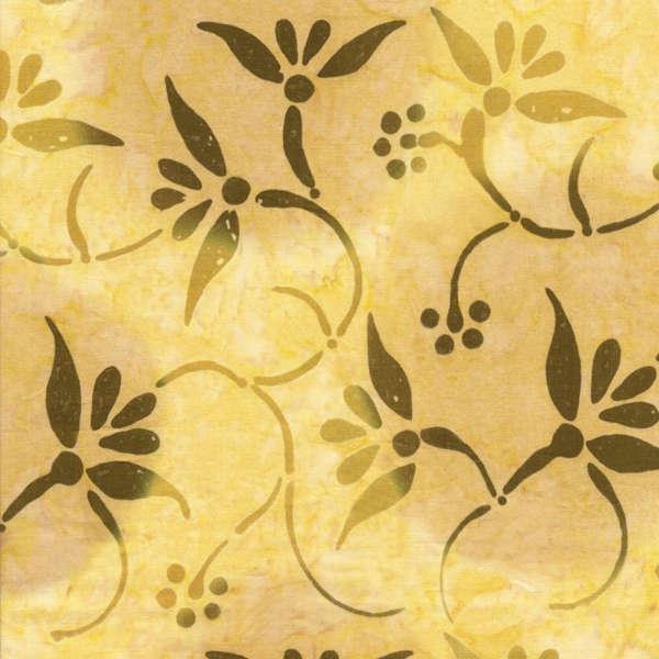 Benartex Shangrila Balis - Floral Swirls Pale Yellow