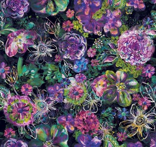 Fiorella - Floral Eclipse - Midnight Digital Print
