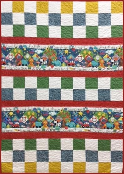 SEARCH & SEE Check Me Out Quilt Kit - 40 x 58