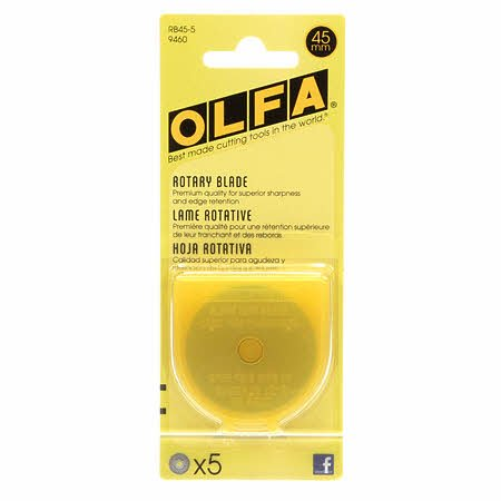 45mm Olfa Replacement Blades - 5pk