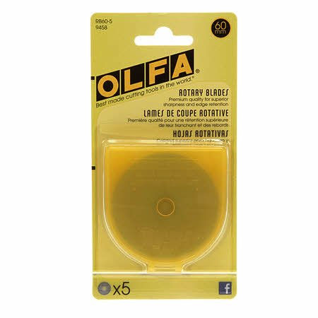 60mm Olfa Replacement Blades - 5pk
