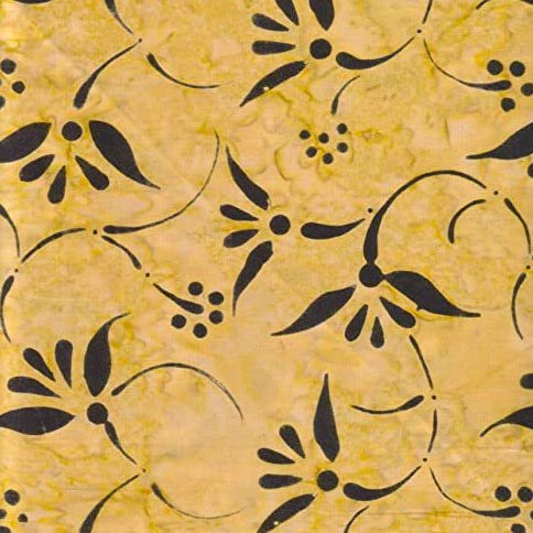Benartex Shangrila Balis - Floral Swirls Golden