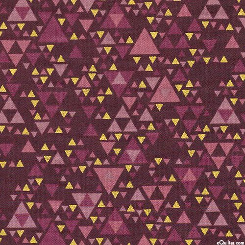 Sparkle  Maroon Triangles