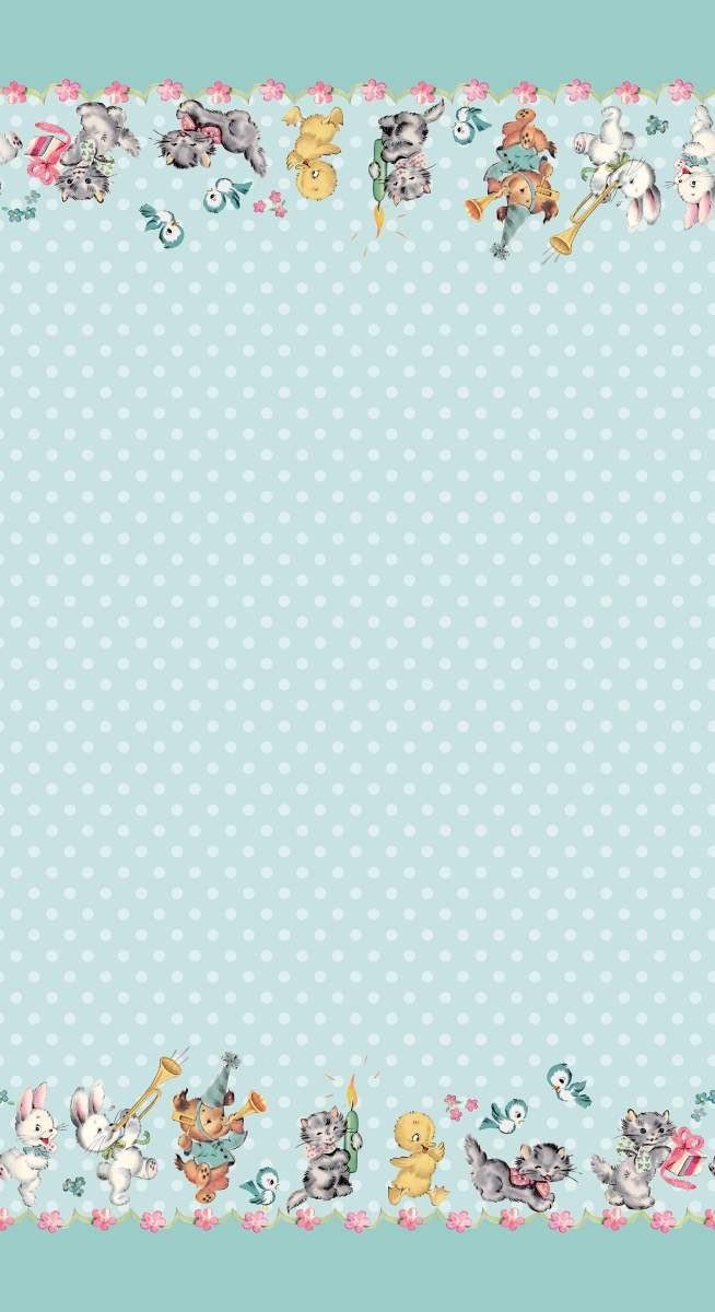 Perfect Party Border Blue