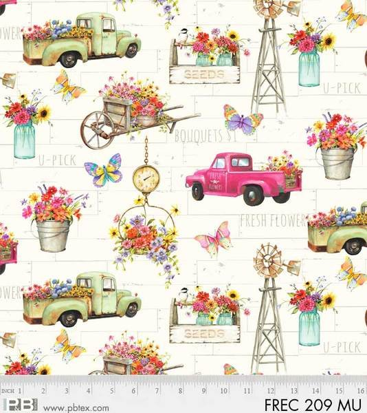 Fresh Country Trucks and Flowers