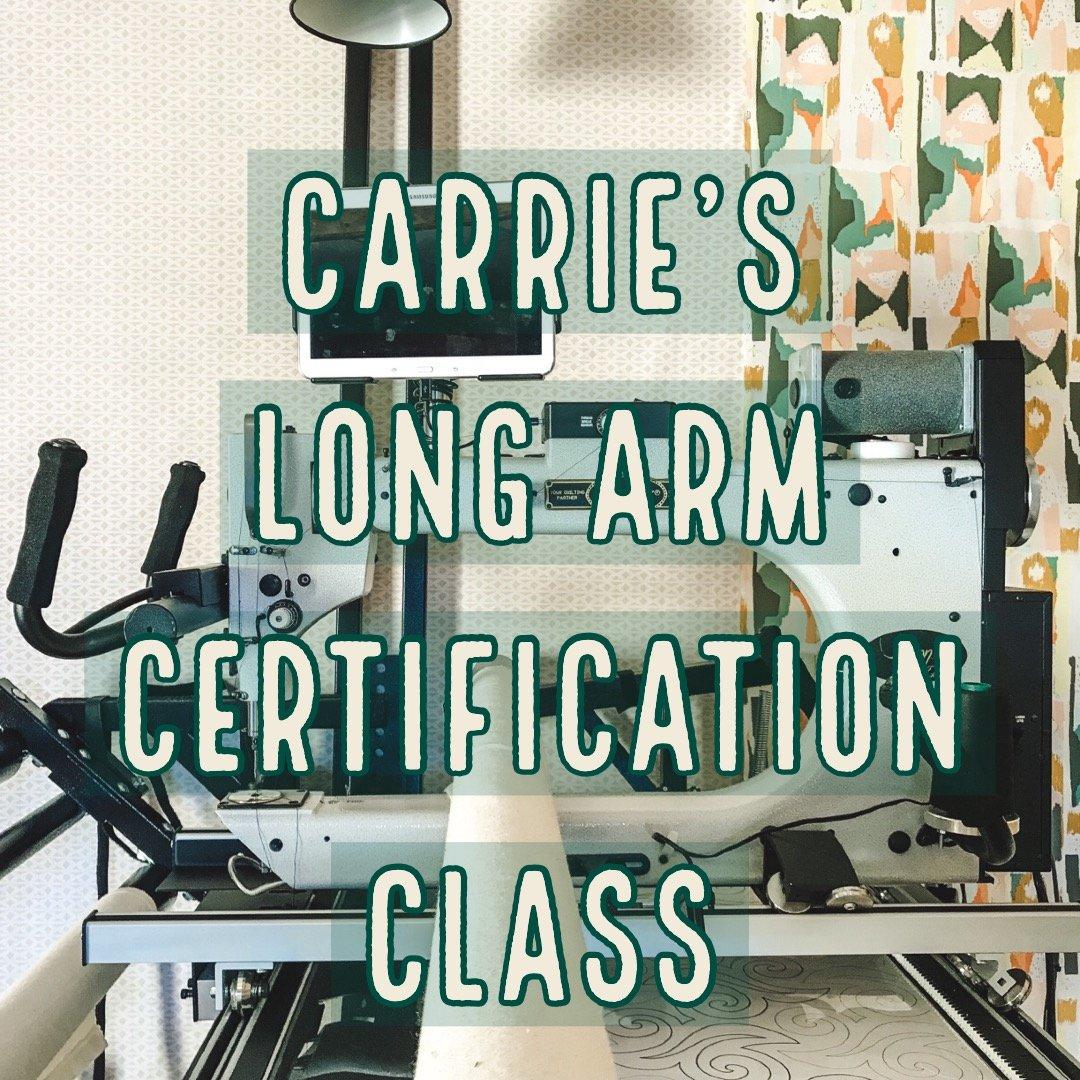 Long Arm Certification Class