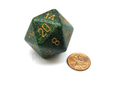 Gold Recon 34mm d20 Speckled