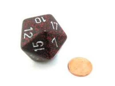 Silver Volcano 34mm d20 Speckled