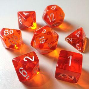 7 Die Trans: Orange with White