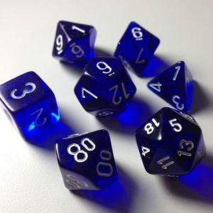 7 Die Trans: Blue w/ White