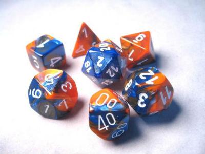 7 Die Gemi: Blue-Orange/White
