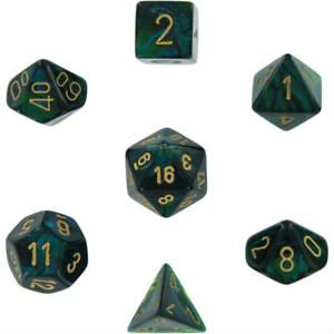 7 Die Scarab: Jade w/gold
