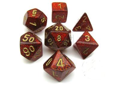 7 Die Glitter: Ruby/Gold
