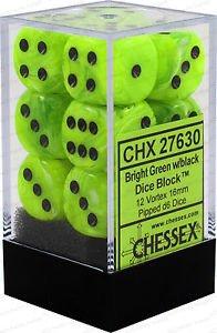16mm d6 Vortex: Brt Green/Black