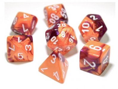 7 Die Gemi: Orange-Purple/White
