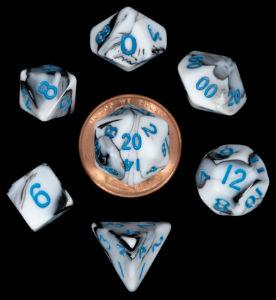 7 Die Mini: Marble with Blue