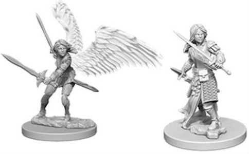 D&D Minis: Aasimar Female Fighter