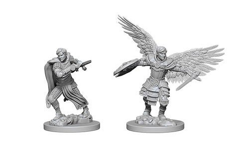 D&D Minis: Aasimar Male Fighter
