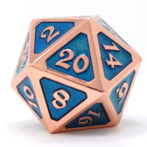 Dire d20 - Mythica Copper Aquamarine