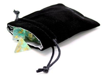 Die Hard Small Satin-Lined Velvet Dice Bag