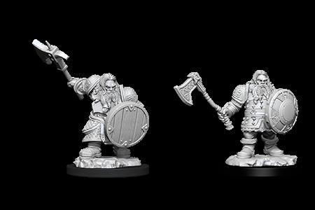 D&D Minis: Dwarf Male Fighter