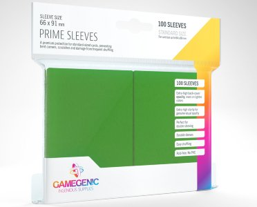 Green Prime Card Sleeves GameGenic