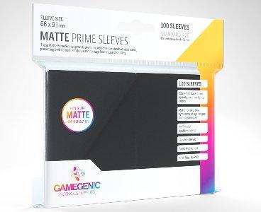 Black Matte Prime Card Sleeves GameGenic