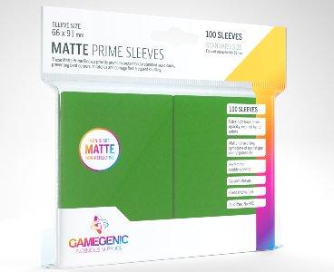Green Matte Prime Card Sleeves GameGenic