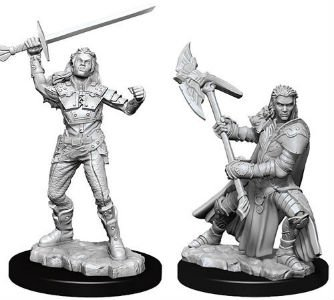 D&D Minis: Half-Orc Female Fighter