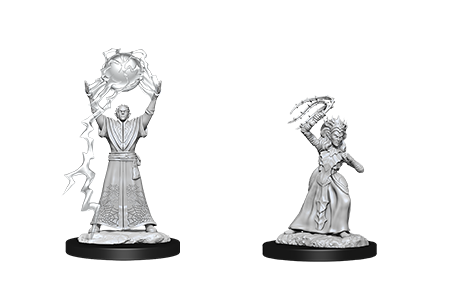 Drow Mage & Drow Priestess D&D Nolzur's Miniatures