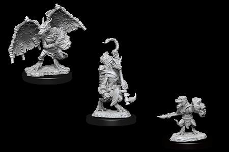 Kobold Inventor, Dragonshield and Scale Sorcerer D&D Nolzur's Miniatures